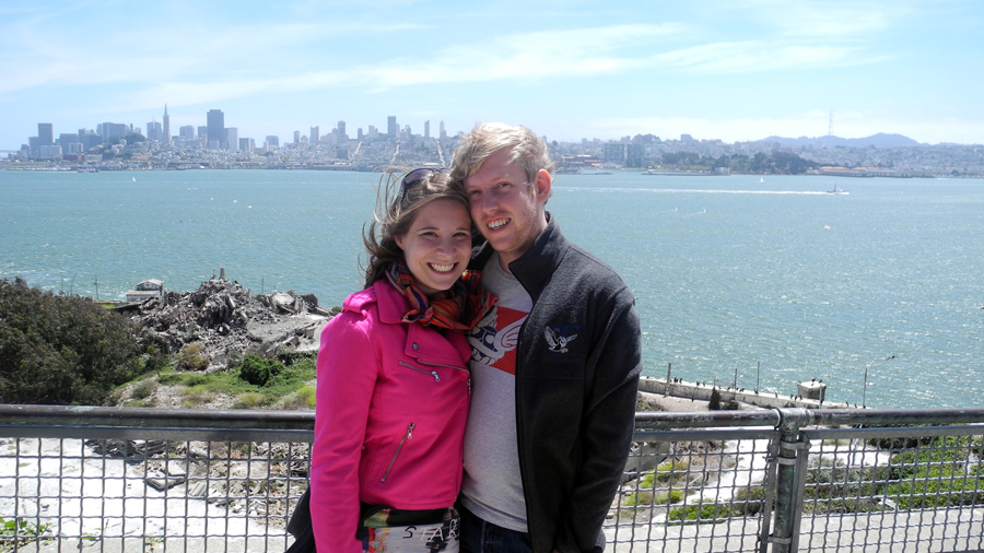 John and I at Alcatraz this August.